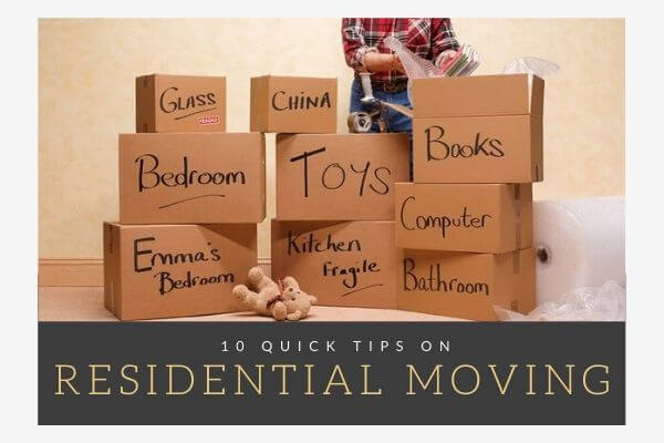 tips and tricks on residential moving