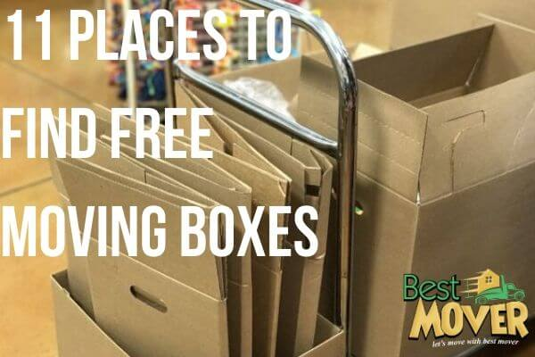 11 places to Find free moving boxes